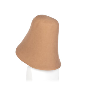 Millinery Supplies UK Light Camel Fur Felt Hood