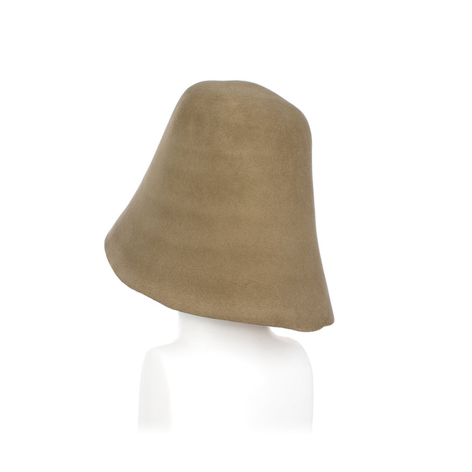Khaki Fur Felt Hood Millinery Supplies UK