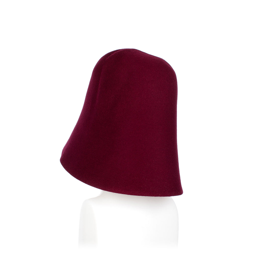 Millinery Supplies UK Burgundy Fur Felt Hood