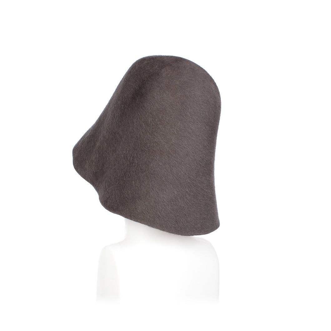 Millinery Supplies UK Mid Grey Fur Felt Hood