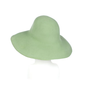 Millinery Supplies UK Pastel Green Fur Felt Capeline