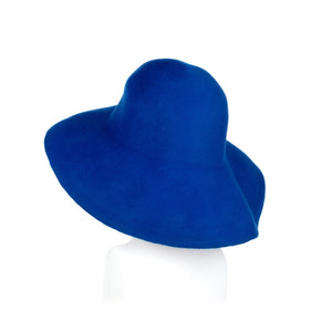 Millinery Supplies UK Electra Blue Fur Felt Capeline