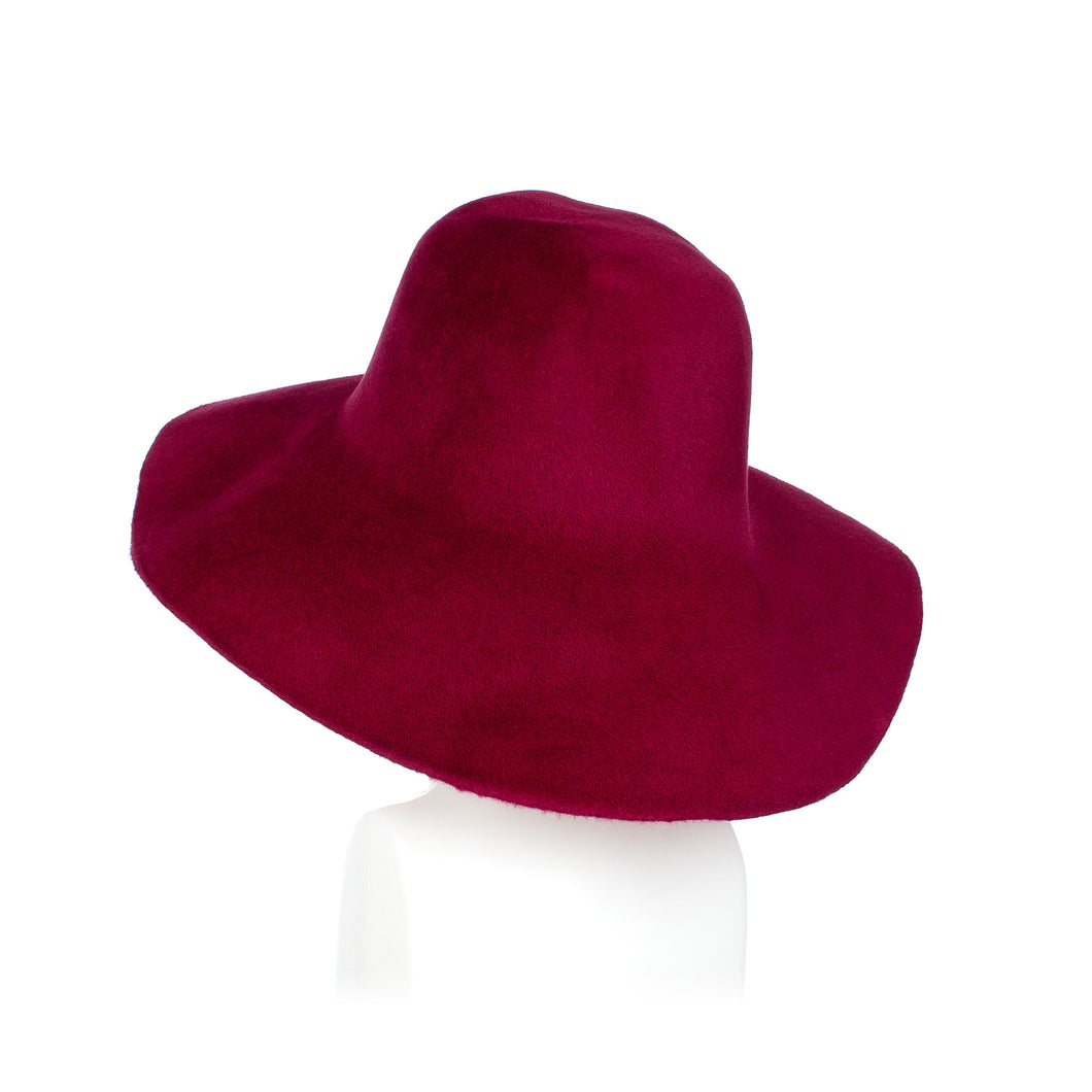 Wine Fur Felt Capeline Millinery Supplies UK
