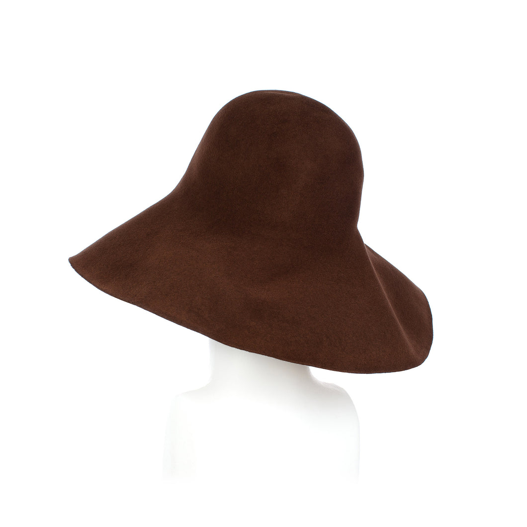 Millinery Supplies UK Mid Brown Fur Felt Capeline