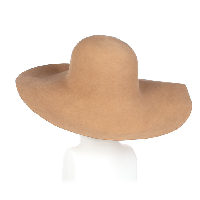 Millinery Supplies UK Light Camel Fur Felt Capeline