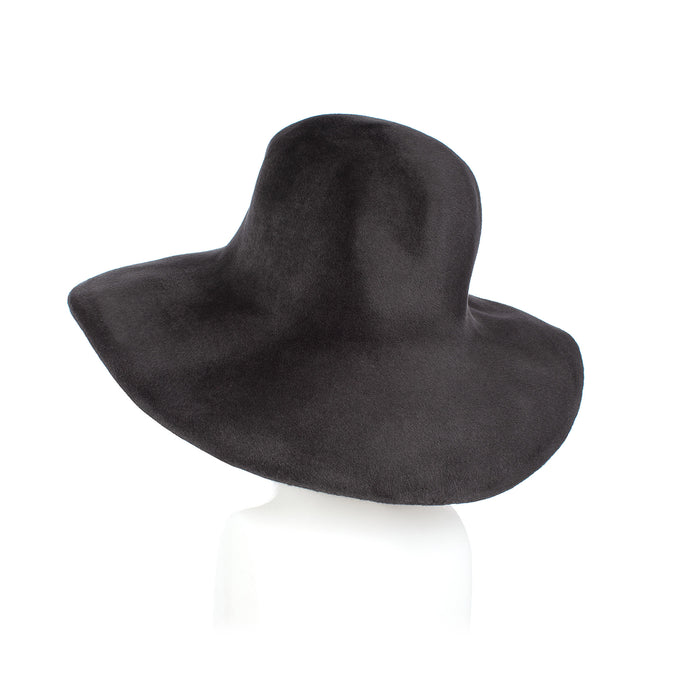 Millinery Supplies UK Charcoal Fur Felt Capeline