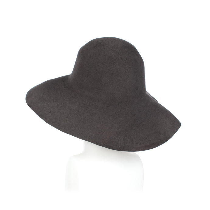 Dark Grey Fur Felt Capeline Millinery Supplies UK