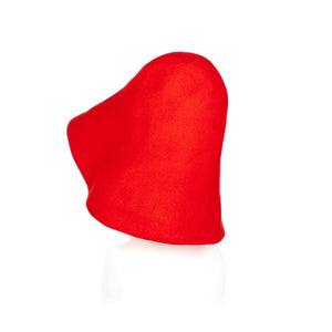Millinery Supplies UK Poppy Red Fur Felt Capeline