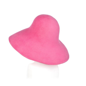 Millinery Supplies UK Bright Pink Fur Felt Capeline