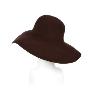 Millinery Supplies UK Dark Brown Fur Felt Capeline