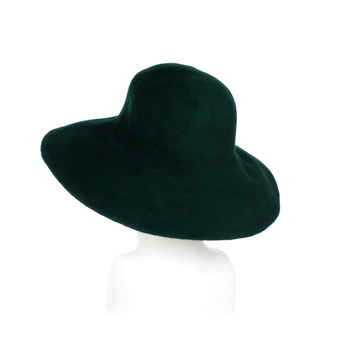 Millinery Supplies UK Dark Green Fur Felt Capeline