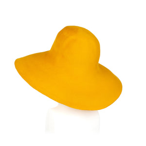 Millinery Supplies UK Yellow Fur Felt Capeline