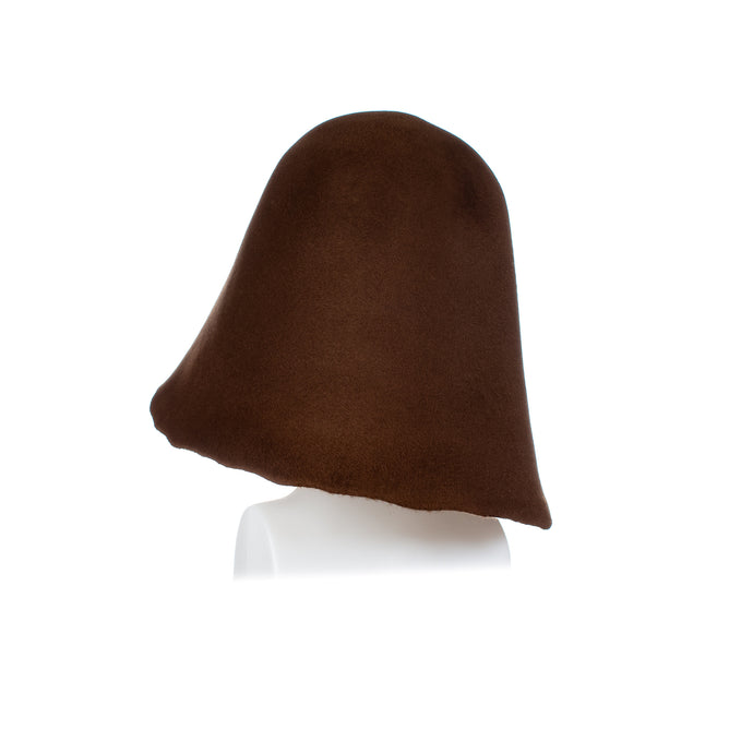 Millinery Supplies UK Vintage Peachbloom Hood - Light Choc