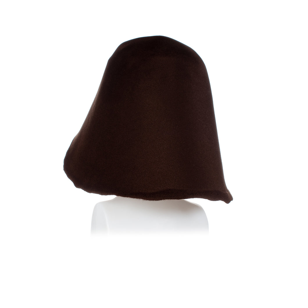 Millinery Supplies UK Vintage Peachbloom Hood - Choc