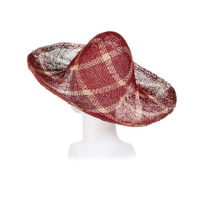 Millinery Supplies UK Twisted Seagrass Diamond Pattern Red Bleached