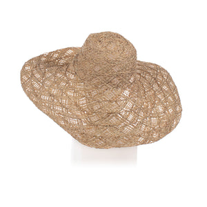 Millinery Supplies UK Natural Raffia/Abaca Diamond 6x4x7""