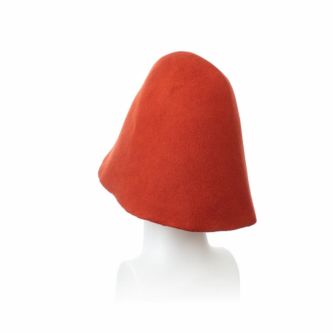 Millinery Supplies UK Burnt Orange Wool Hood