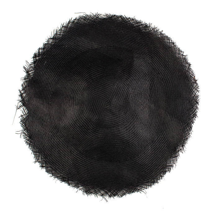Millinery Supplies UK Black 58cm - 23 diameter Buntal Mat