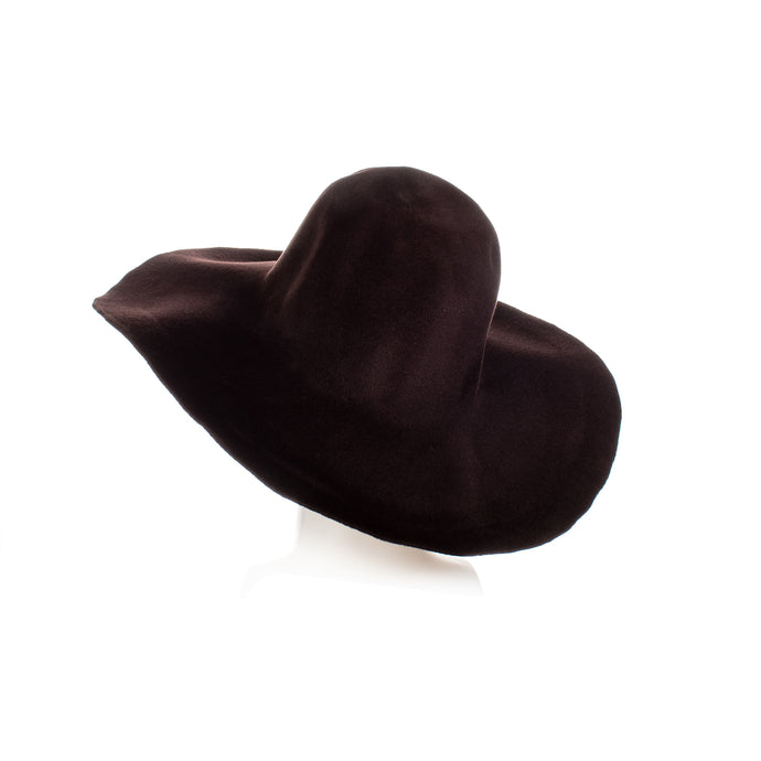 Millinery Supplies UK Black Tulip Velour Peachbloom Capeline