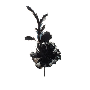 Dark Navy Feather Peony Millinery Supplies UK