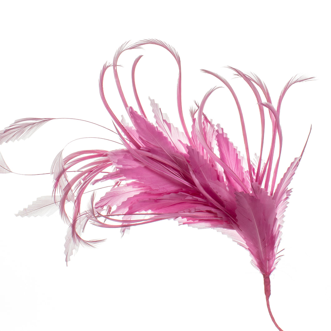 Millinery Supplies UK Deep Pink Feather Spray