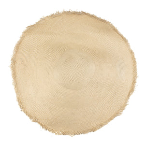"Millinery Supplies UK Ivory 58cm - 23"" diameter Buntal Mat"