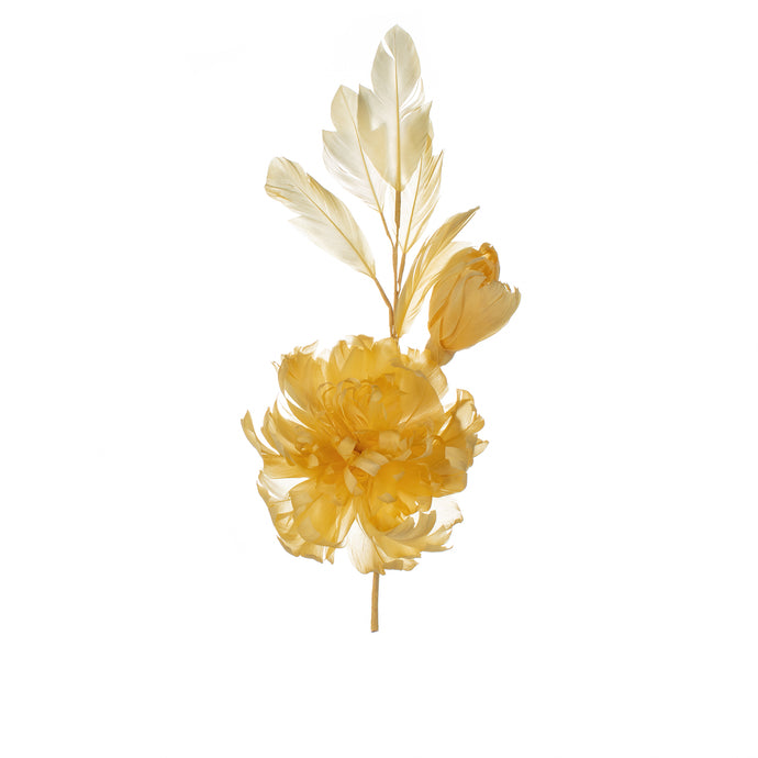 Maize Feather Peony Millinery Supplies UK
