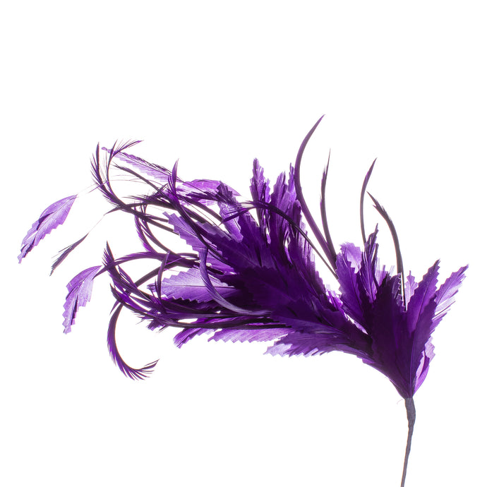 Millinery Supplies UK Purple Feather Spray