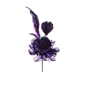 Purple Feather Peony Millinery Supplies UK