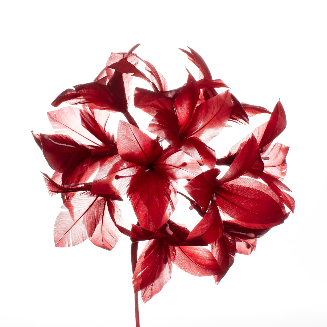Millinery Supplies UK Red Campanula on soft wire
