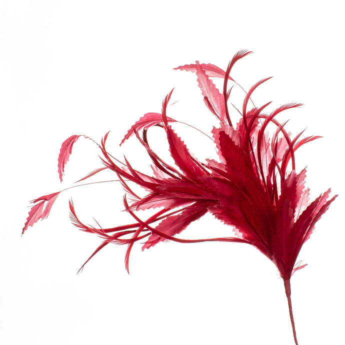 Millinery Supplies UK Red Feather Spray