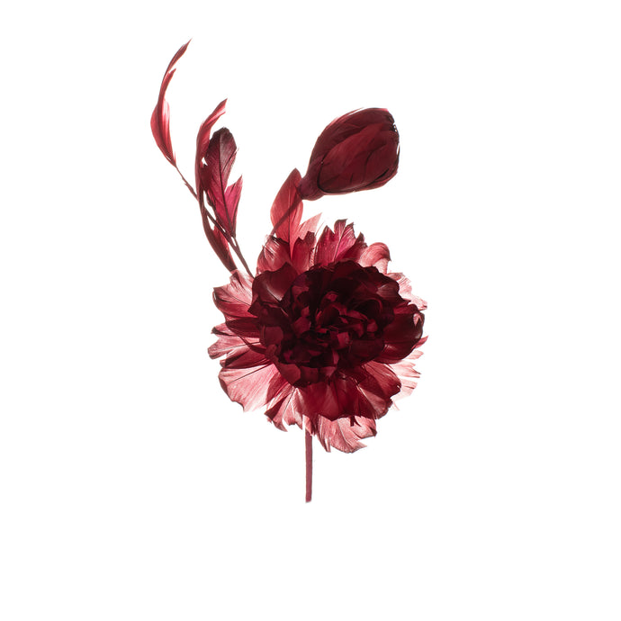 Red Feather Peony Millinery Supplies UK