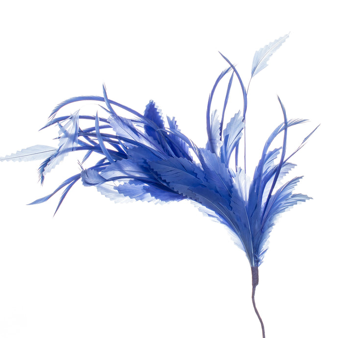 Millinery Supplies UK Sapphire Feather Spray