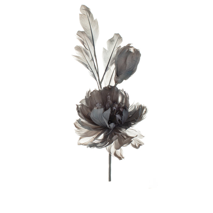 Slate Feather Peony Millinery Supplies UK