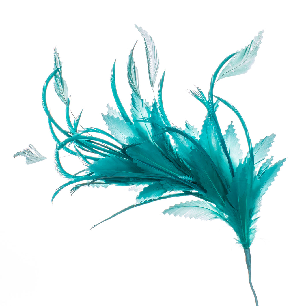 Millinery Supplies UK Turquoise Feather Spray