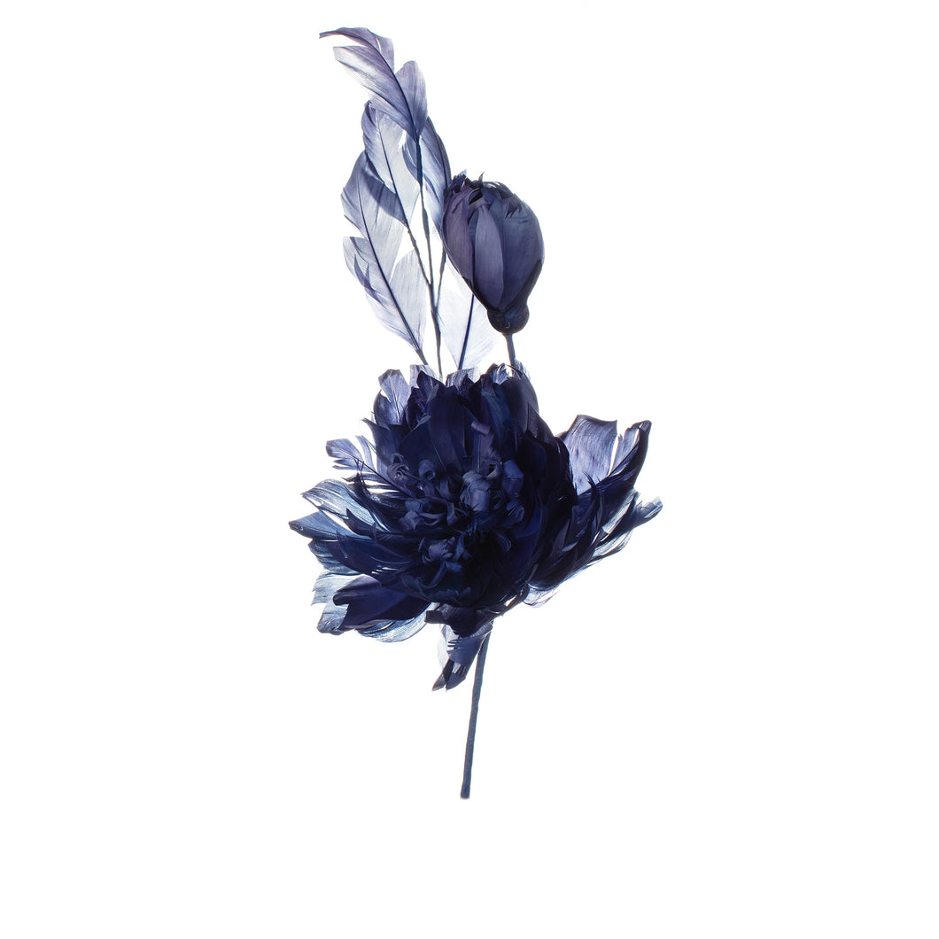 Violet Feather Peony Millinery Supplies UK