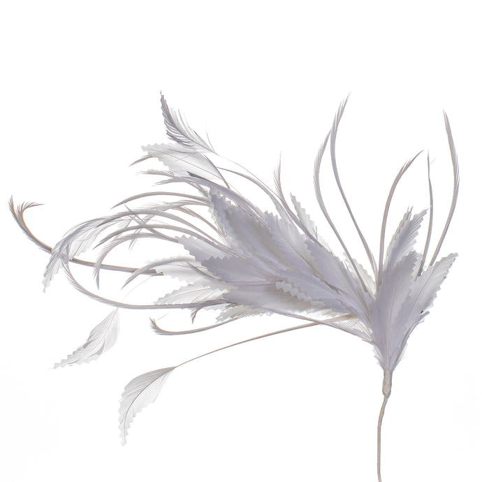 Millinery Supplies UK White Feather Spray