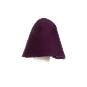 Millinery Supplies UK plum 90g wool felt hood