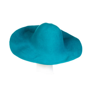 Millinery Supplies UK turquoise 120g wool felt capeline