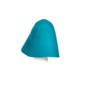 Millinery Supplies UK turqouise 90g wool felt hood
