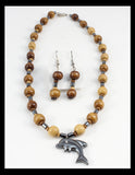Dancing Dolphin Necklace and Earring Set