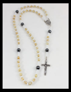 Rosary - Honey Colored Beads