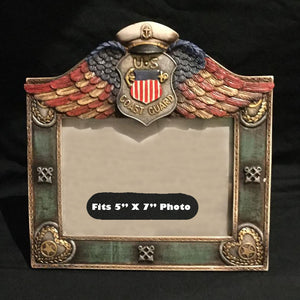 "Coast Guard Photo Frame. Fits 5"" X 7"" Photo"