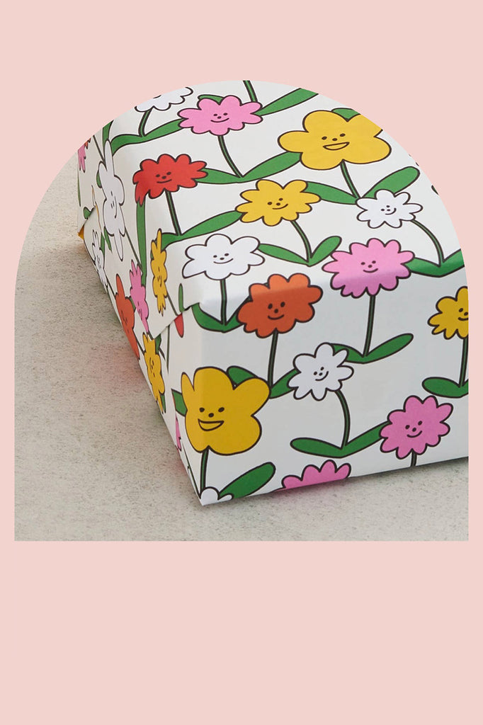 Happy Flowers Gift Wrap