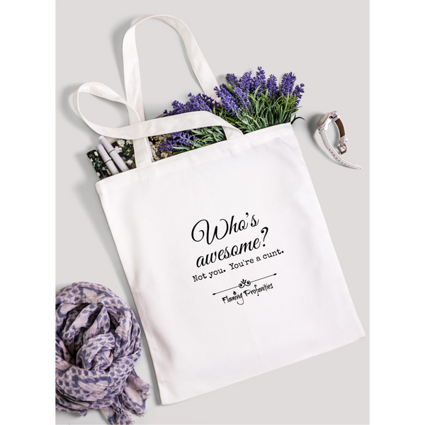 Who's awesome? - White tote bag