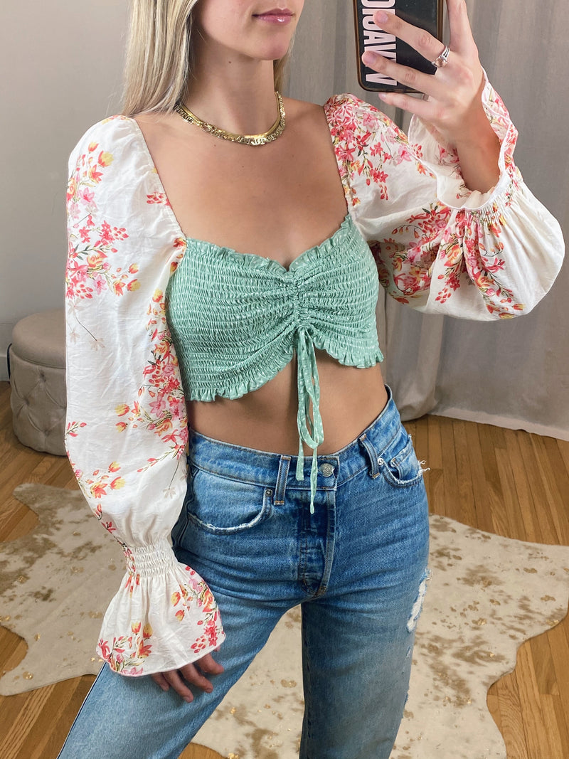 Minty Floral Long Sleeve