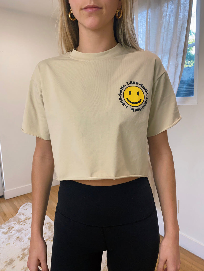 1-800-SMILE Crop Top