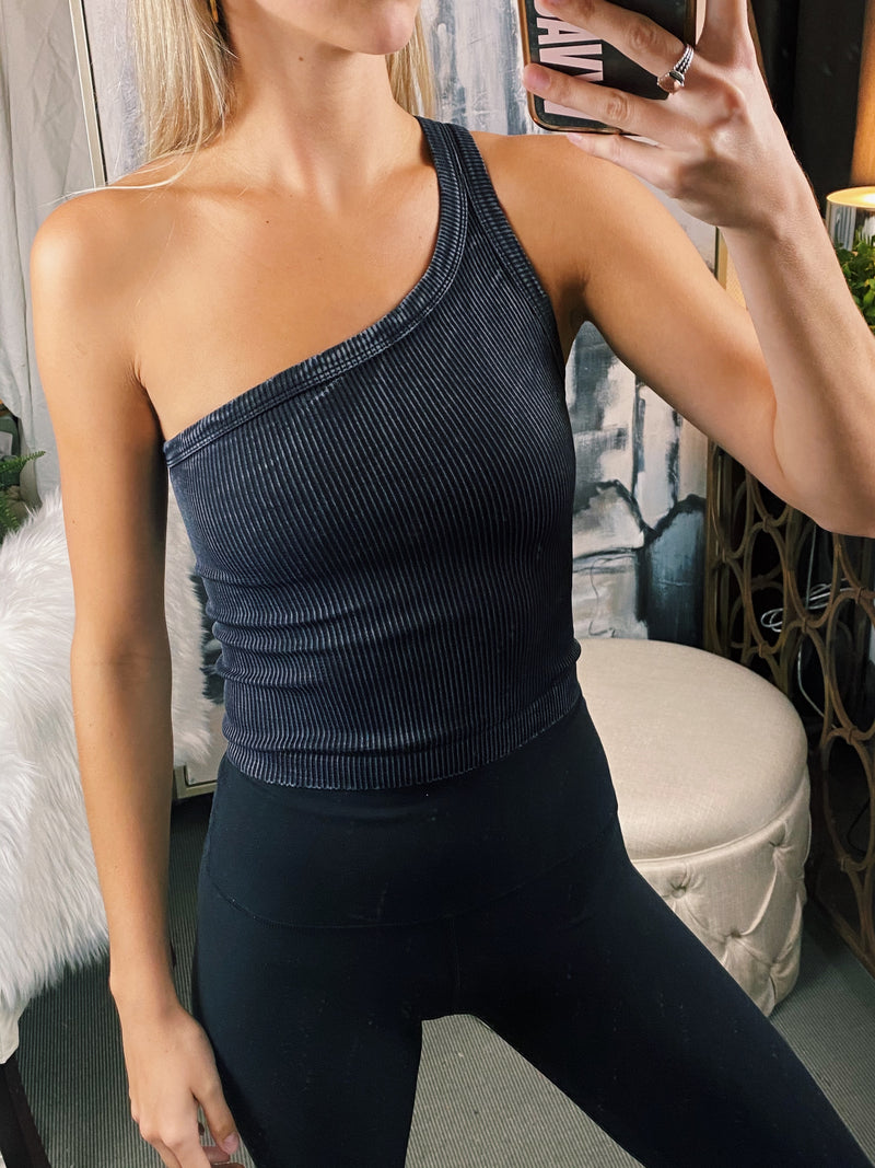 One Shoulder Tanks