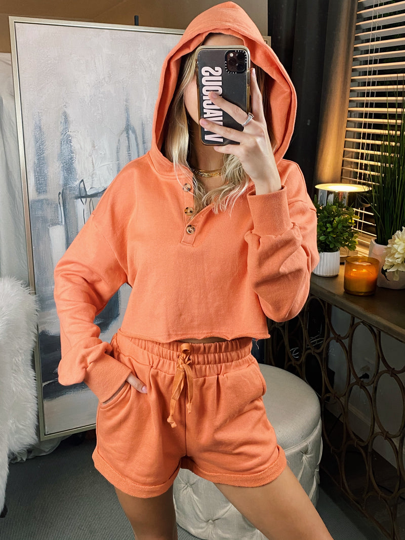 Orange Sherbet Shorts Set
