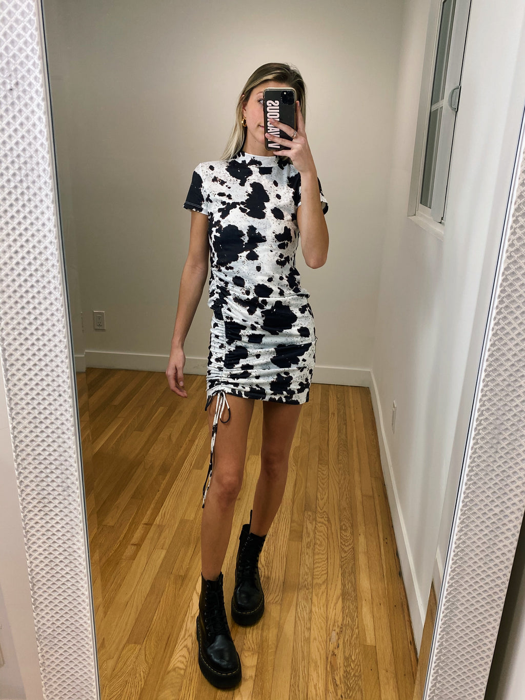 Oat Milk Mini Dress